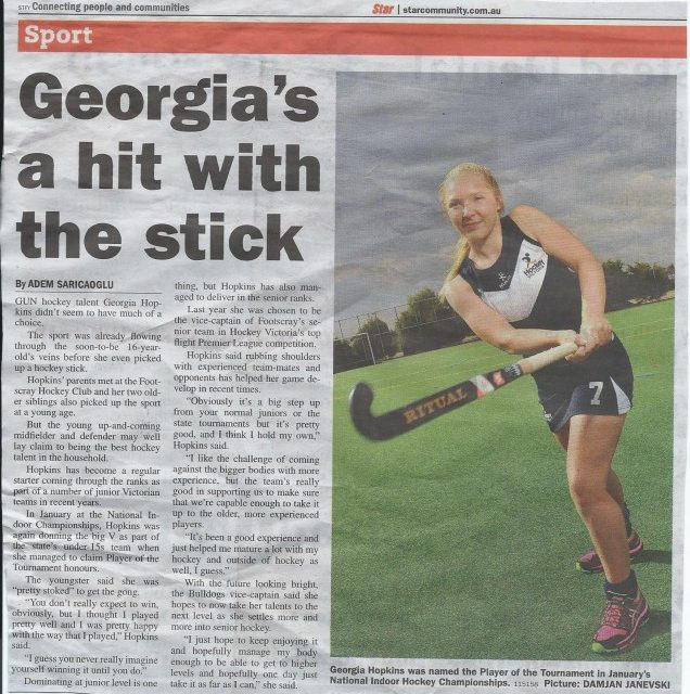 STAR: Georgia's a Hit with the Stick