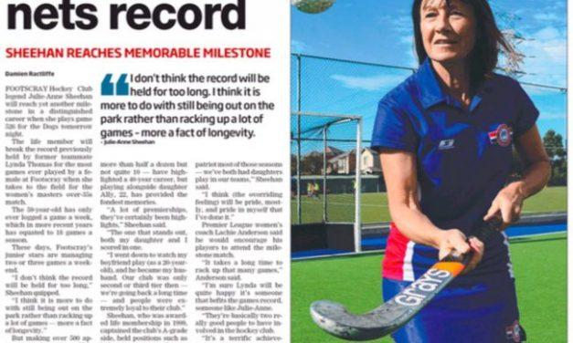 LEADER: Club Stalwart Nets Record