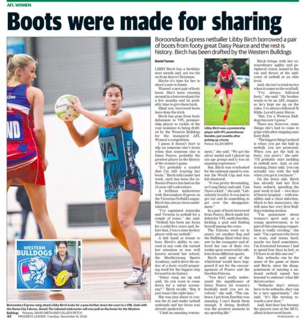 LEADER: Boots were made for sharing