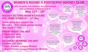 Womens Round @ FHC May 11th – 18th