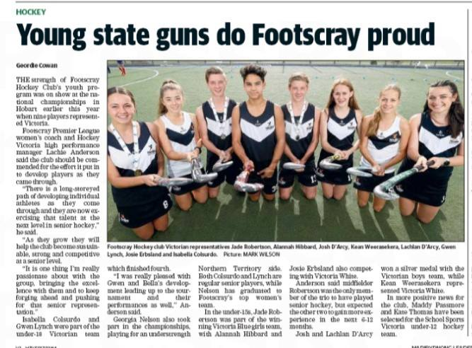 LEADER: Young State Guns do Footscray Proud