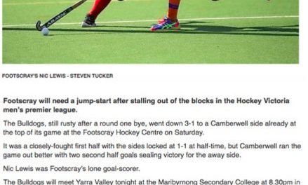 STAR: First Up Loss for Footscray
