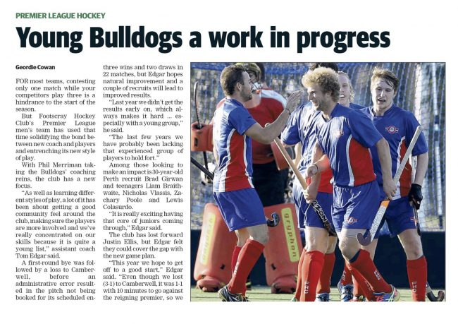 LEADER: Young Bulldogs a Work in Progress
