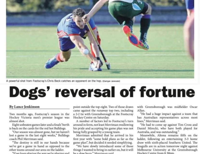 LEADER: DOGS REVERSAL OF FORTUNE