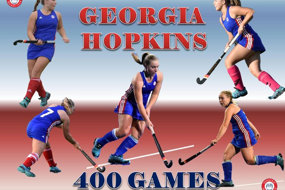 Congratulations Georgia Hopkins 400