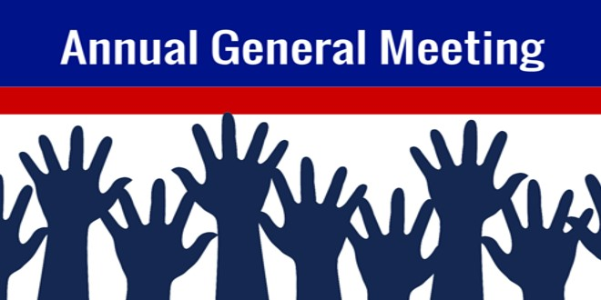 AGM – 7.30pm TUESDAY 26th NOV