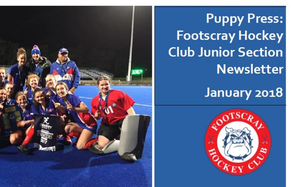 PUPPY PRESS JANUARY JUNIOR NEWSLETTER
