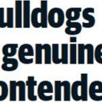 MARIBYRNONG LEADER: BULLDOGS A GENUINE CONTENDER