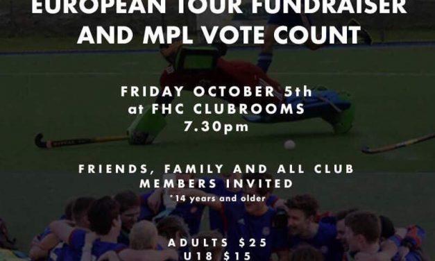 JOSH D'ARCY EUROPEAN TOUR FUNDRAISER & MPL VOTE COUNT
