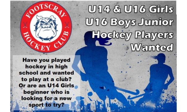 U14 & U16 JUNIOR PLAYERS WANTED