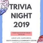 TRIVIA NIGHT – AUGUST 10TH