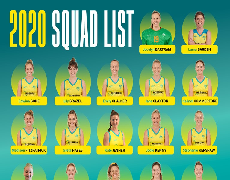 HOCKEYROOS SQUAD ANNOUNCED – CONGRATS LILY BRAZEL
