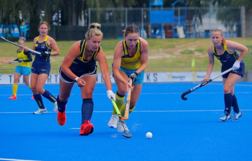 CARLY JAMES IN FIRST INTRA-SQUAD MATCH AT HOCKEY AUSTRALIA'S SUPERCAMP