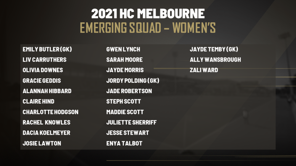 CONGRATULATIONS CLAIRE HIND & ALANNAH HIBBARD – WOMEN'S EMERGING SQUAD