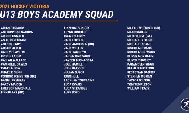 8 FHC JUNIORS SELECTED FOR HOCKEY VICTORIA ACADEMY