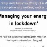MANAGING YOUR ENERGY IN LOCKDOWN